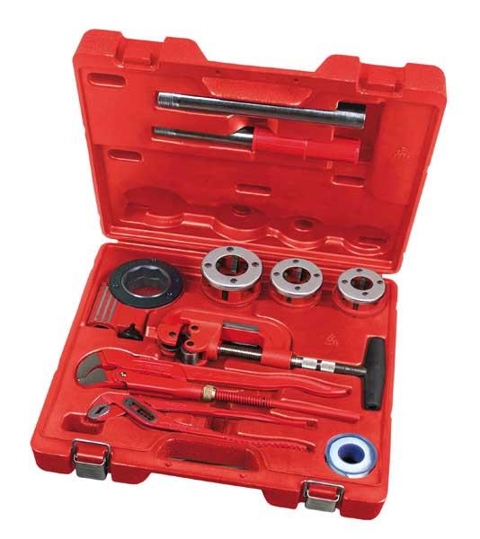 Rothenberger SANIKIT ipari szerszámkészlet acélcsövek szerelési és javítási munkáihoz 070673E
