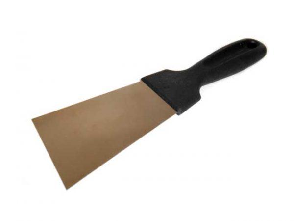 Rozsdamentes spatula 40mm, műanyag nyél 080050