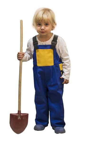 Gyermek kantáros nadrág lék/sárga méret 158 0979.1305.001-158