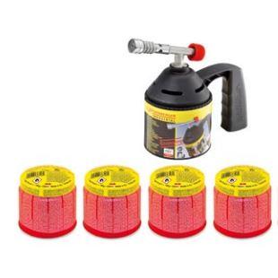 Rothenberger forrasztópisztoly gázlámpa lágyforrasztó készlet piezo + 4 db gázpatron 1000000982
