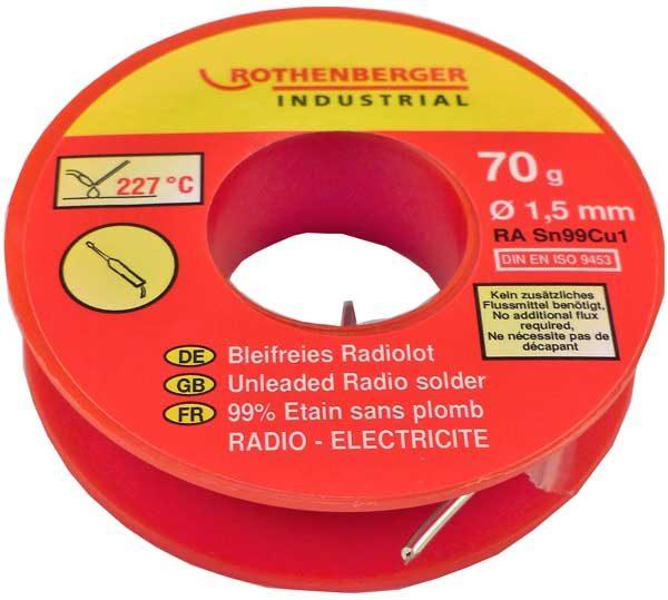 Rothenberger – ólommentes rádió forrasztóhuzal 30 g 1000002350