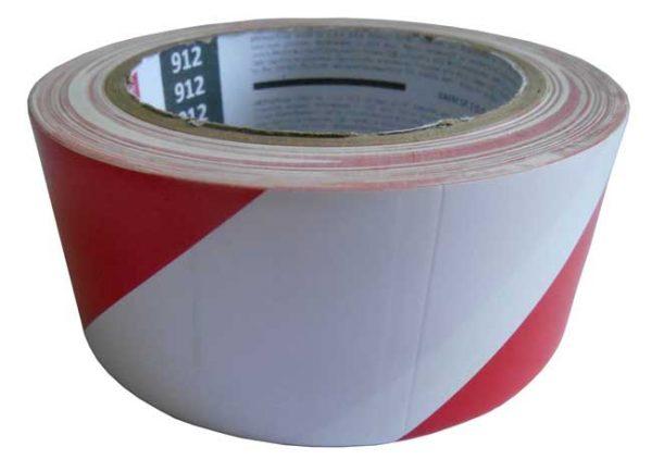Figyelmeztető szalag, öntapadó 48mmx33m – piros/fehér 110062