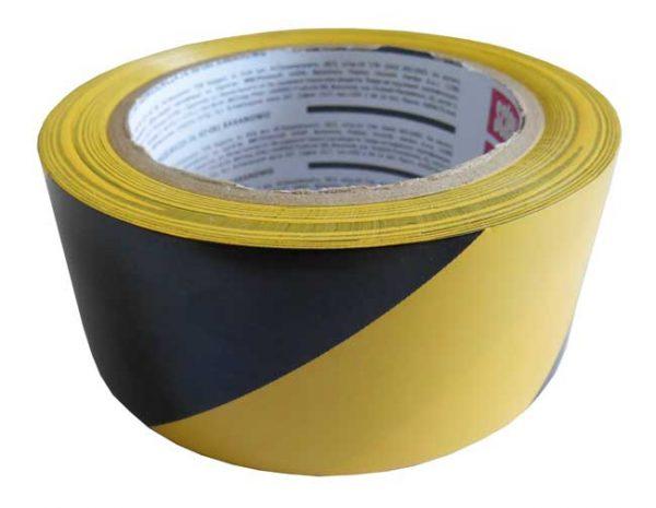 Figyelmeztető szalag, öntapadó 48mmx33m – sárga/fekete 110063