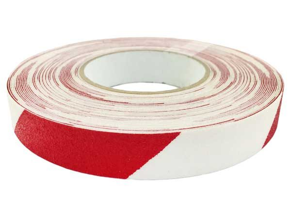 Csúszásgátló szalag 25mm x 18,3m – piros/fehér 110067