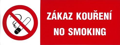 Tilos a dohányzás – No smoking 210x70mm – matrica 120081