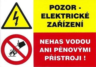 Vigyázz elektromos berendezés. Ne oltsd vízzel se habbal.… 120091