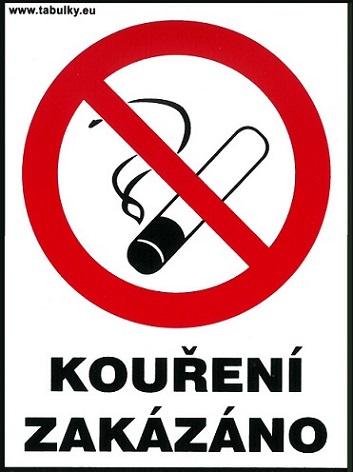 Dohányozni tilos – vendéglátóhelyek részére 120x160mm – matrica 120106