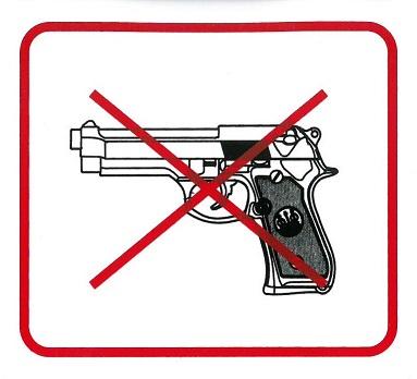 Fegyvert behozni tilos 110x90mm – matrca 120111