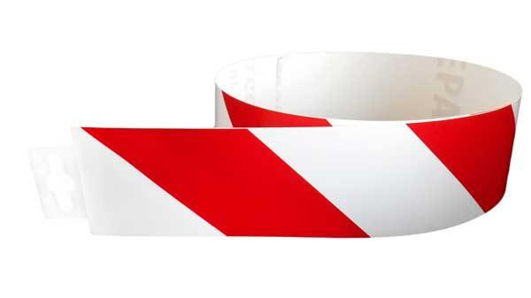 Jelzőszalag piros/fehér ellenirány 980x60mm – matrica