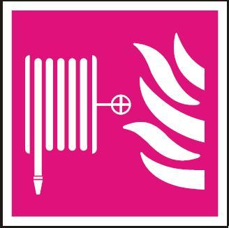 Požární hadice – samolepka symbol 148x148mm 120198