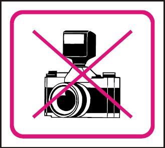 Zákaz fotografování – samolepka 100x90mm 120204