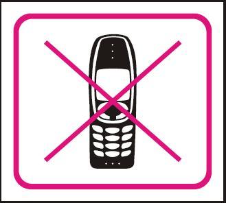 Zákaz mobilu – samolepka 100x90mm 120206