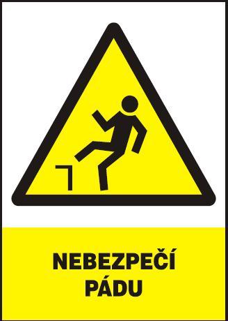 Nebezpečí pádu – plastová tabulka A4 120208