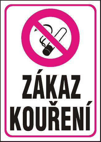 Zákaz kouření – plastová tabulka A4 120215