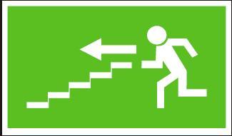 Panáček se směrem vlevo po schodišti dolů – plastová tabulka… 120220