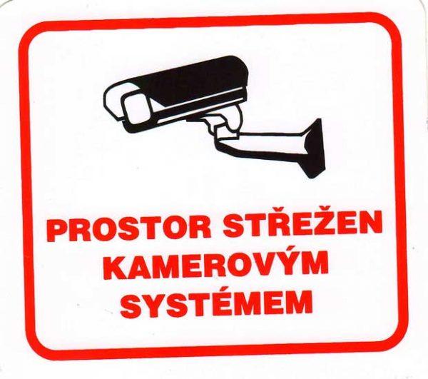 Prostor střežen kamerovým systémem – samolepka 100x90mm 120232