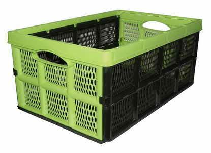 Összecsukható láda rekesz tároló műanyag 50x33x22 cm LZ1300