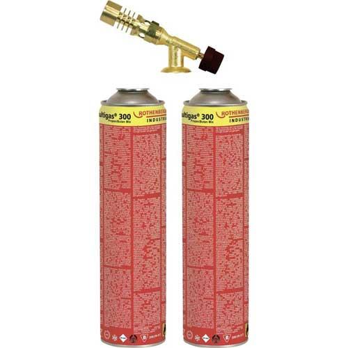 Rothenberger keményforrasztó készlet gázforrasztó gázégő gázlámpa 2 db 600 ml-es gázpatronnal 18078