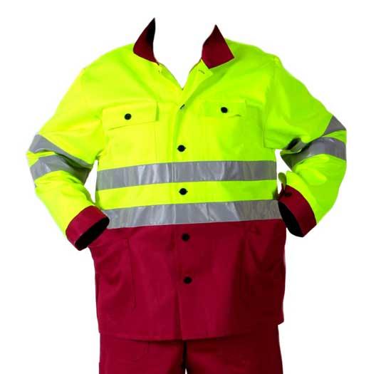 Férfi munkáskabát munkavédelmi kabát munkásruha fényvisszaverő csíkkal 48- as méret 1810-88-48