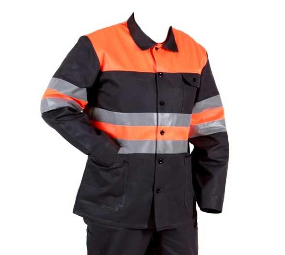 Férfi munkáskabát munkavédelmi kabát munkásruha fényvisszaverő csíkkal 62- es méret 1813-88-62