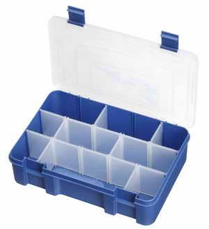 Műanyag tároló doboz 276x188x75 mm, 1-9 pozíció PP197