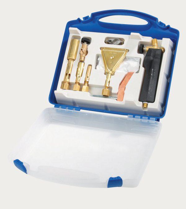 Meva forrasztó gázforrasztó lánghegesztő hegesztő készlet bőröndben 2192A