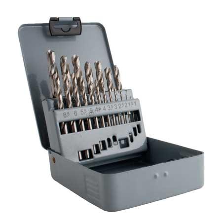 MAGG fémfúró készlet 19 részes HSS-G 1-10 mm fémhez 224019