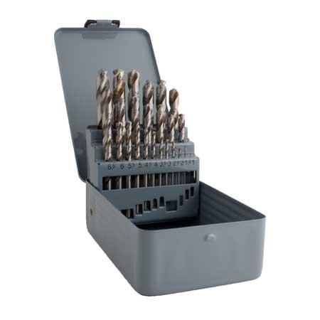MAGG fémfúró készlet 25 részes HSS-G 1-13 mm fémhez 224025