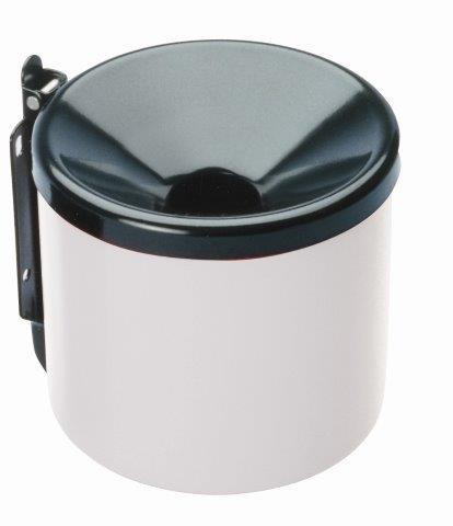 MEVA – fali hamutaró, 150 mm fehér / fekete 2354B