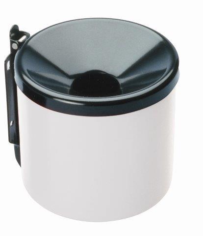MEVA – fali hamutaró, 90 mm fehér / fekete 2355B