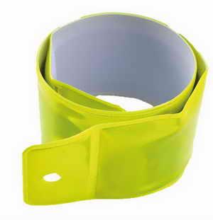 Žlutý pásek na ruku 5x40cm 2616-ZLT