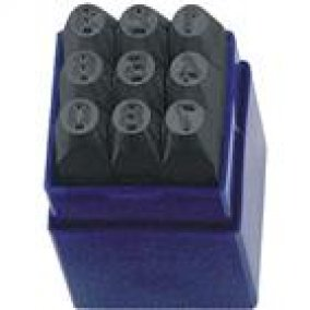 Számbeütő készlet szám beütő 9 db 6 mm ST12306