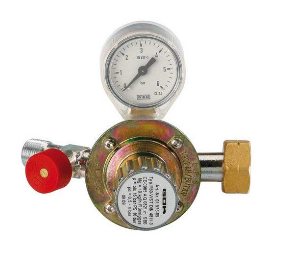 Meva PB nyomáscsökkentő nyomásszabályzó szelep gáz reduktor gázreduktor nyomásmérő órával 4498