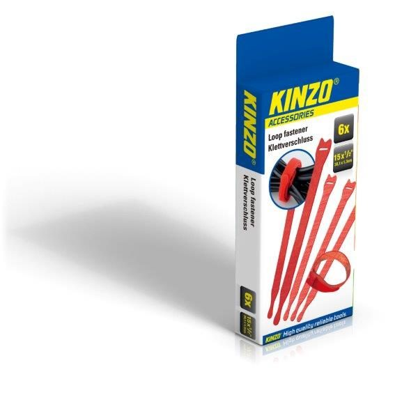 KINZO – sada rychlostahovacích pásek 6ks 38,1×1,27 cm 46609