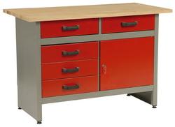 MARS munkaasztal munka asztal 5 fiókos 1 ajtós 120x60x84 5802
