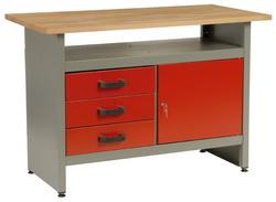 MARS munkaasztal munka asztal 3 fiókos 1 ajtós 120x60x84cm 5804