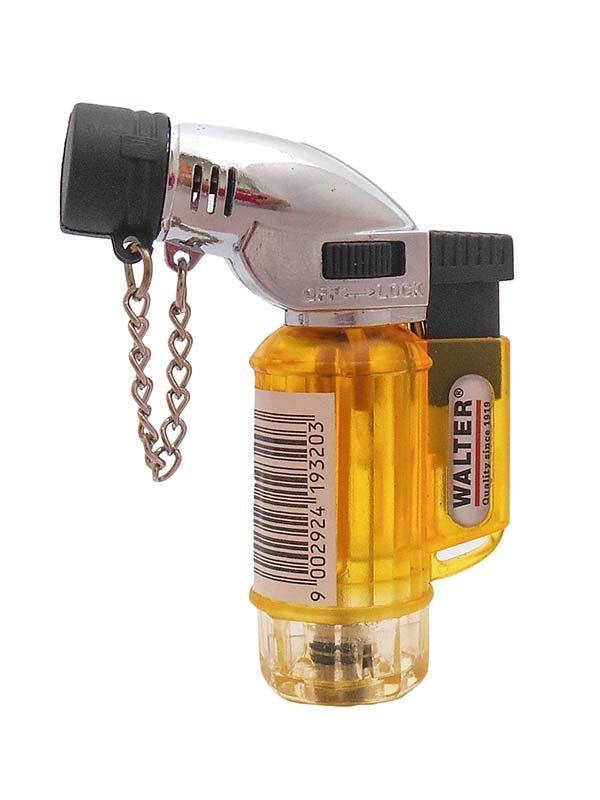 WALTER mini gázégő vihargyújtó gázforrasztó forrasztó Piezo gyújtós tölthető 611096