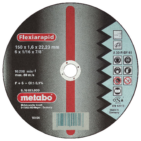 METABO vágókorong FLEXIRAPID 115×1,0x22,2 mm 616186000