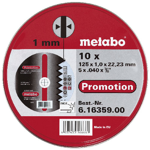 METABO vágókorong 125×1,0mm 10 db 616359000
