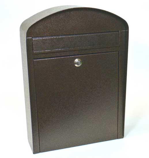 Mars horganyzott lemez postaláda leveles láda levélszekrény barna 6192H