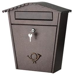 Mars horganyzott lemez postaláda leveles láda levélszekrény barna 6199H