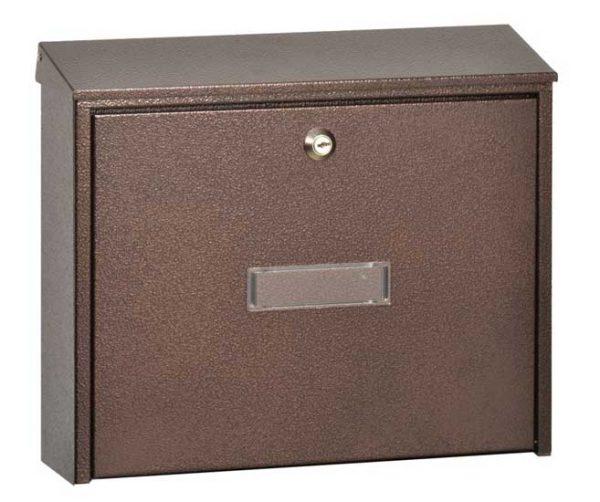 Mars horganyzott lemez postaláda leveles láda levélszekrény barna 6305H