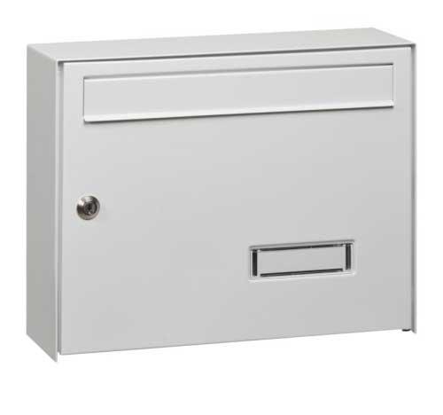 Mars szögletes horganyzott lemez postaláda leveles láda levélszekrény fehér 6309B