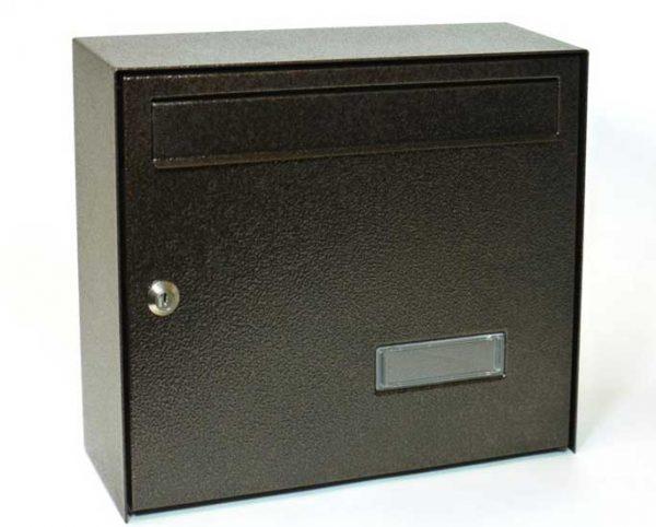 Mars szögletes horganyzott lemez postaláda leveles láda levélszekrény barna 6309H