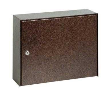 Mars horganyzott lemez postaláda leveles láda levélszekrény barna szögletes 6312H