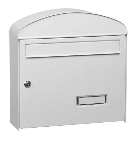 Mars horganyzott lemez postaláda leveles láda levélszekrény gömbölyű fehér 6322B