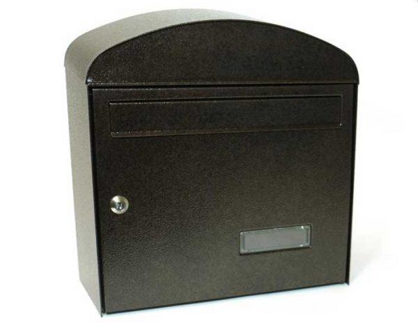 Mars horganyzott lemez postaláda leveles láda levélszekrény gömbölyű barna 6322H
