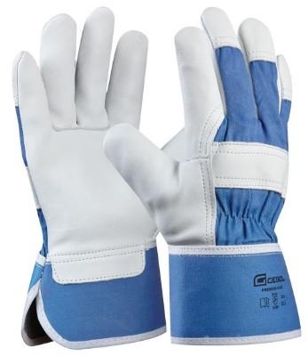 Munkavédelmi kesztyű PREMIUM BLUE, bőr 1,2 mm 10,5-ös méret 709209