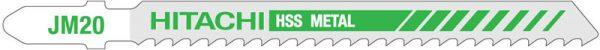 HITACHI – szúrófűrészlap fémek vágására JM20- 5db. 750012