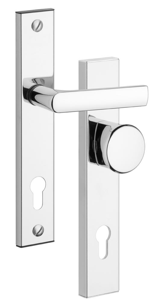 ROSTEX – biztonsági ajtó kilincs BK 802 / 90 Cr gomb RX4043690100